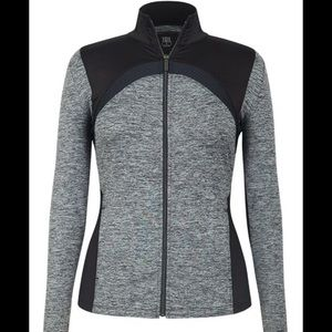 TAIL Athletic Grey and Black Jacket Size Small